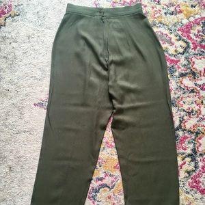 Vintage High Waisted Olive Pants